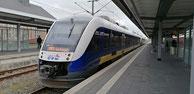 648 177 der evb (Eisenbahnen und Verkehrsbetriebe Elbe-Weser),  RB33 -> Cuxhaven, Bahnhof Bremerhaven Hauptbahnhof,