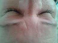 Nach der Effektbehandlung mit Adessa Silk Eyelashes