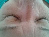 Vor der Behandlung mit Adessa Silk Eyelashes