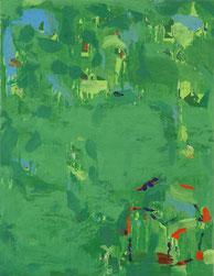 緑の盛り     キャンバスに油彩  41×31.8cm