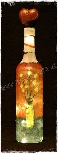 Deko-Flasche mit Malerei