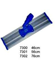 7300, 7301, 7302. Base Mop Aluminio para Funda de Microfibra. Medidas: 46 cm, 56 cm, 76 cm. Wonderfultools