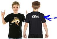 tee-shirt personnalisé garçon pêcheur de sandre