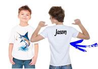 tee-shirt personnalisé garçon pêcheur d'espadon