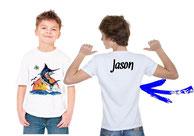 tee-shirt personnalisé garçon pêcheur en mer