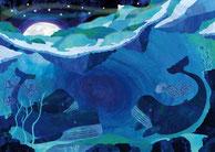 Postkarte Wale, Paperfjord, Copyright Johann Lewy