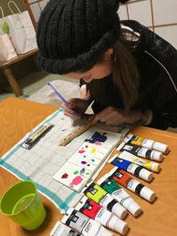 松井本和蝋燭工房の見学 絵付け体験 ワークショップ
