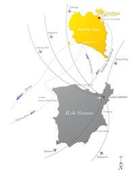 Koh Samui Archipel Karte
