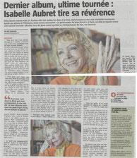Isabelle Aubret fin carrière La Voix du Nord Poly Cécile Aubry