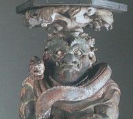 興福寺蔵 1215年龍燈鬼立立像 康弁作 国宝
