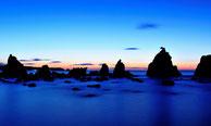 橋杭岩の夕景