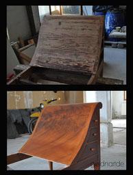 Holzimitation, Holzoptik, Imitation, Beton, Mahagonie