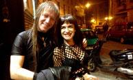 Con mi gran amigo RAFA BALMASEDA, Bajista de PARALISIS PERMANENTE el 13-10-2012 con PARALITIKOS en la Sala PABERSE MATAO (Sedavi)
