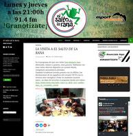 Web Programa El Salto de la Rana de Radio Esport (2017)