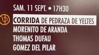 Toros de Pedraza de Yeltes pour Morenito de Aranda, Thomas Dufau et Gomez del Pilar