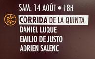 Toros de La Quinta pour Daniel Luque, Emilio de Justo et Adrien Salenc