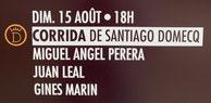 Toros de Santiago Domecq pour Miguel Angel Perera, Juan Leal et Ginès Marin