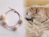 joya-artistica-con-pelo-animal-mi-miga-pulsera-cuero-plata-ley-perlas-pelo-perro-simba