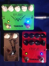 handverarbeitete, hochwertige Analog-Pedale für Gitarristen - Verzerrer etc.