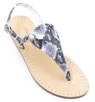 sandali artigianali pitonati grigi ischia