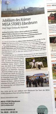 Vorankündigung Jubiläum Krämer Eibesbrunn