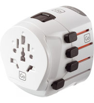 Go Travel Worldwide Adapter Earthed