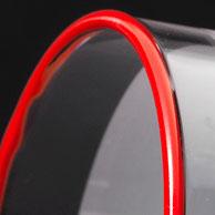 Veredeln Sie Ihren Artikel mit einem Farb-, Metallic- oder Edelmetallrand um das Produkt noch weiter hervorzuheben. Es können generell alle Artikel mit einem Rand versehen werden, dies ganz individuell per Hand.