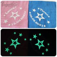 Noschi Sterne stern nachtlicht leuchtend dunkel name geburtstdatum personalisierbar