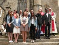 05/2016 : la pastorale des  jeunes toujours bien active (ici confirmation des jeunes à St Melaine)
