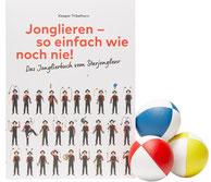Ein Jonglierbuch zum Jonglieren lernen mit Jonglierbällen