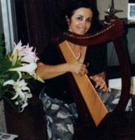 Nehama REUBEN harp solo  / biblical harp Israel Jerusalem 1991