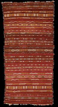 Teppich. Zürich. Very fine semi-antique Zemmour Flatweave (kilim). Handgewebter Teppich, Kelim aus Marokko.