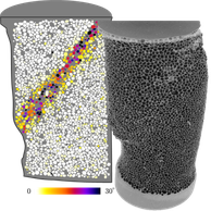 X-ray visualisation of  a sand grain assembly during axial loading (Credit: E. Ando)