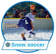 Fun events with snow soccer