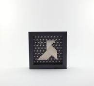 Cadre origami Cocotte - Format 11x11cm - 20€