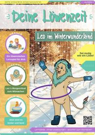 """Cover von der Kinder Zeitschrift """"Deine Löwenzeit""""."""