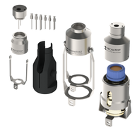 Liquid sampling system solutions, bottle sampler on/off bypass and needle purge configurations