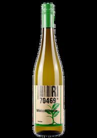 Flasche vom Weißwein-Cuvée Wein in den Stuttgarter Weinbergen