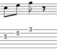 ギターアドリブ入門講座(初心者) 2拍パターン5-2
