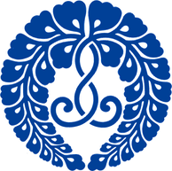 宗門の紋のひとつ、下がり藤(西六条家下り藤)