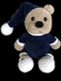 """Gehäkeltes Kuscheltier Teddybär """"Mischa"""""""