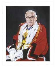 Alderman Allan R. Bretherick_Lord Mayor_1969_1970_painting Frank Lisle