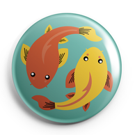 CARPES KOI_BADGES MAGNETS PETITS MIROIRS ILLUSTRATION / CREATION ORIGINALE © Stephanie Gerlier / T FOR TIGERILLUSTRATION / CREATION ORIGINALE © Stephanie Gerlier / T FOR TIGER