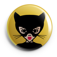 ICONS ICONES CATWOMAN ILLUSTRATION BADGE MAGNET MIROIR / CREATION ORIGINALE © Stephanie Gerlier / T FOR TIGER