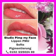 Lippen Permanent Make Up - Norderstedt - Studio Pimp my Face - Stefanie Lopez - Ombrelips - Schulungen - Weiterbildung