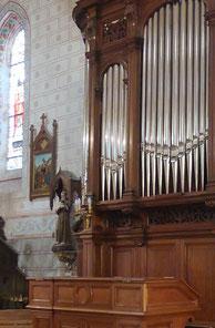 Détail de l'Orgue en l'Eglise St-Pierre