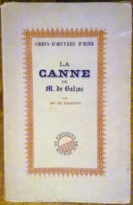 La canne de M. de Balzac, Delphine de Girardin