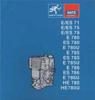 Reparatur-Buch Hatz E/ES71, E/ES75, E/ES79, E/ES780, E/ES785