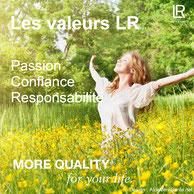 Les valeurs de LR Health & Beauty :  Passion, confiance et responsabilité | Notre secret  avec LR : un marketing de réseau éprouvé depuis des décennies, des produits de santé et de beauté de qualité. aloe vera sante et beauté