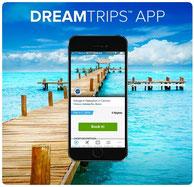 DreamTrips App das Facebook unter den Reisen